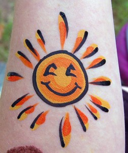 face painting, sun