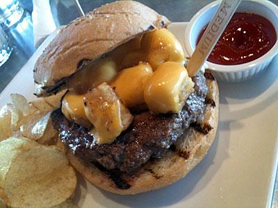 Baked Bean Burger, Burger Daze, Croque-monsieur Burger, Fafafel Burger, Italian Burger, Liberty Market's, Thai Burger, Tot Burger