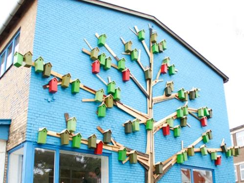 around the world, birdhouses