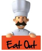 Chef eat out sign